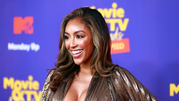 In this image released on May 17, Tayshia Adams attends the 2021 MTV Movie & TV Awards