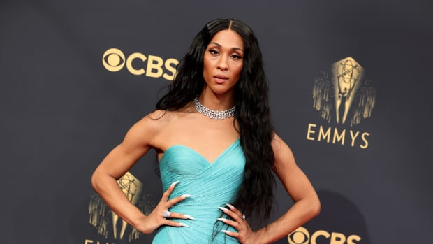 Michaela Jaé Rodriguez attends the 73rd Primetime Emmy Awards