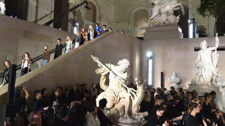Louis Vuitton Upstages the Art of the Louvre for Fall 2017