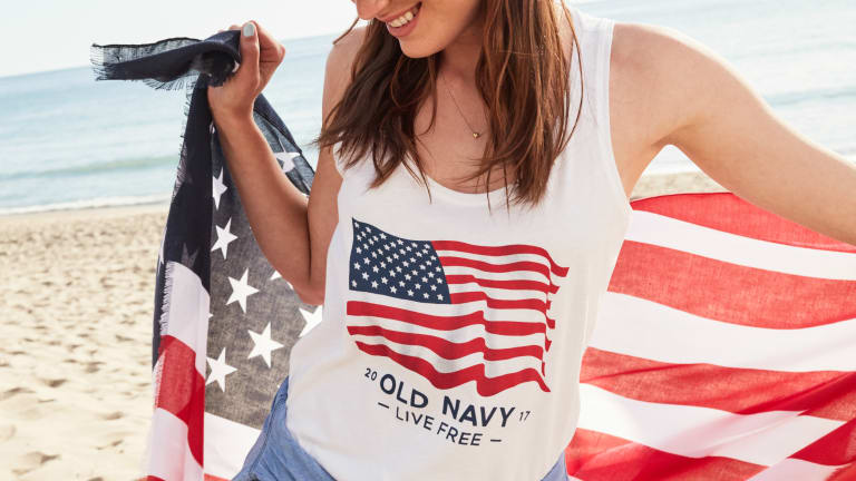The Story Behind Old Navy's Flag Tee, a Nostalgic — and Accidental — Phenomenon