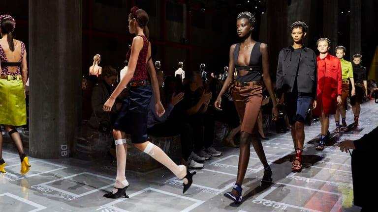 Prada Put a Techno Twist on Ladylike Classics for Spring 2019