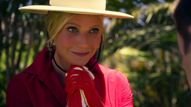 Gwyneth Paltrow Gardens in a Carolina Herrera Gown in 'The Politician'