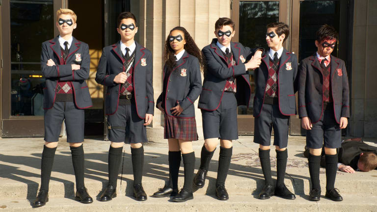 'The Umbrella Academy' Superheroes and Assassins Wear Vintage, Custom-Designed Suits and a Lot of Leather