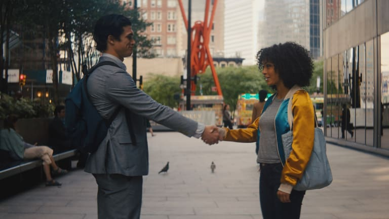 Understated Costumes Let Yara Shahidi and Charles Melton Shine in 'The Sun Is Also a Star'
