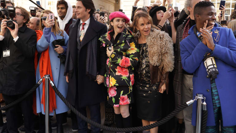 In 'Emily in Paris,' Patricia Field Pays Homage to Carrie Bradshaw and Audrey Hepburn Through Costume