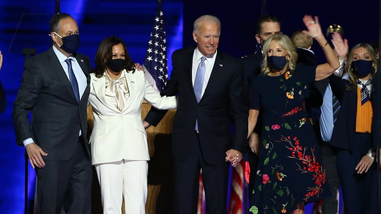 On a Historic Night, Vice President-Elect Kamala Harris and Dr. Jill Biden Represent American Fashion