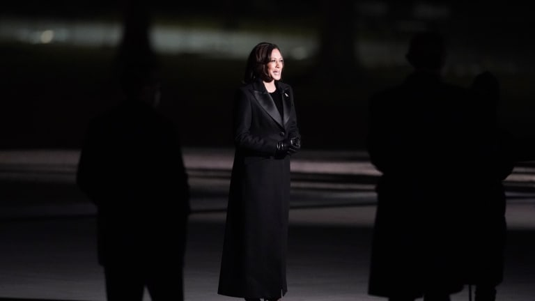 Wearing Sergio Hudson, VP Kamala Harris Continued to Show Support for Black Designers at the Inaugural Concert