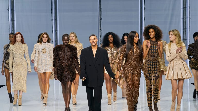 For Spring 2022, Olivier Rousteing Revisits His Greatest Hits From 10 Years at Balmain