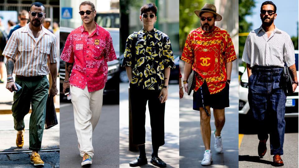 Showgoers Wore All Sorts of Camp Shirts at Milan Men's Fashion Week