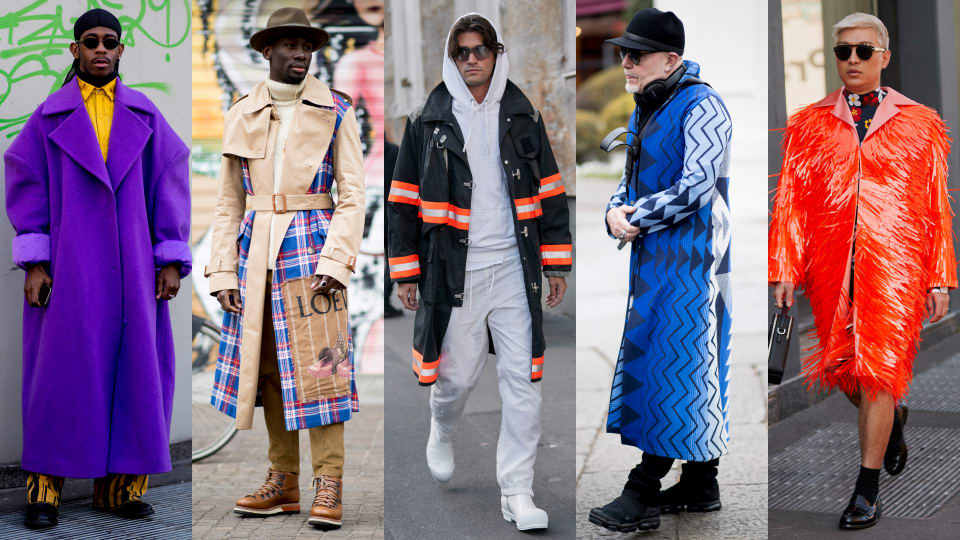 Showgoers Wore Their Best Statement Coats at Milan Fashion Week Men's