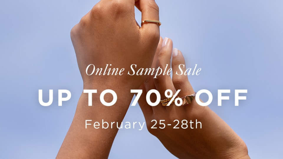 Monica Vinader Online Sample Sale, February 25th - 28th