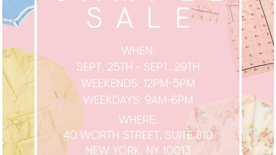 Morgan Lane New York Sample Sale, 9/25 - 9/29