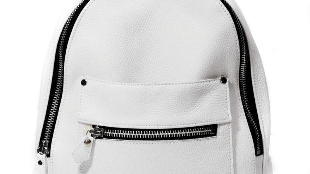 Khoi Le White Mini Collegiate Backpack.jpg