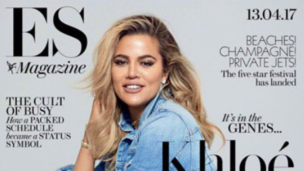 khloe kardashian evening standard cover-