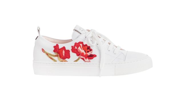 josefinas embroidered rose sneakers