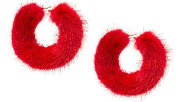 wild and woolly fur earrings