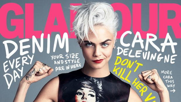 cara delevingne glamour cover