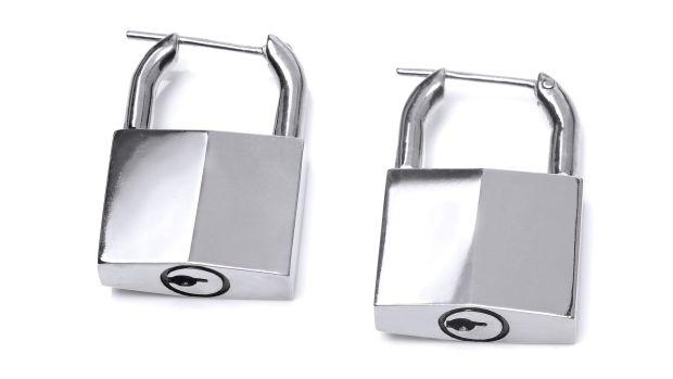 padlock earrings 2