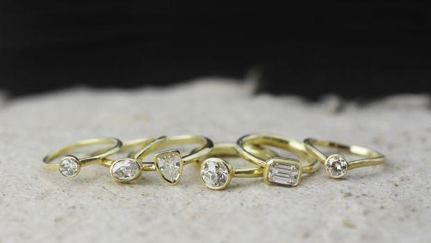 18k diamonds rings banner
