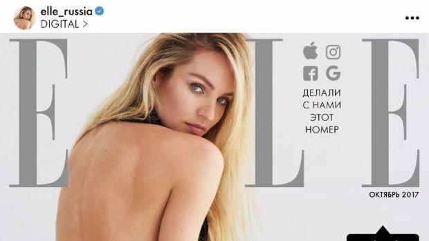 elle russia instagram magazine cover-