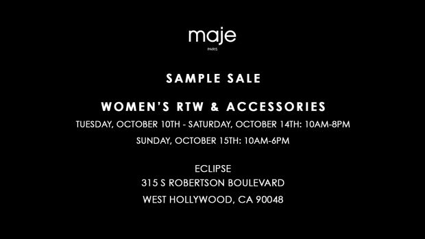 Maje Sample Sale Invite_Fall 2017 Public