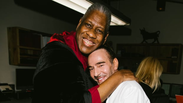 john galliano and andre leon talley