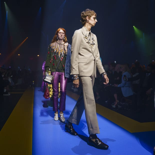 2aa40b1a5 8 Standout Elements From the Gucci Men's Spring 2017 Show - Fashionista