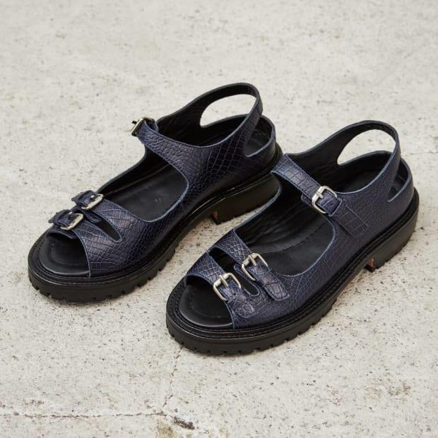 rachel comey adams sandals croc leather