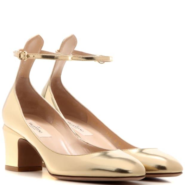 valentino tango pumps gold