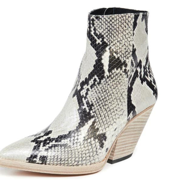47b24e1a9ab These Ankle Boots Convinced Dara to Give Snakeskin a Shot