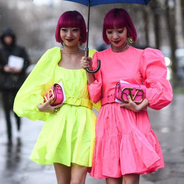 Ami Suzuki and Aya Suzuki Valentino March 1 2020 Paris Fashion Week