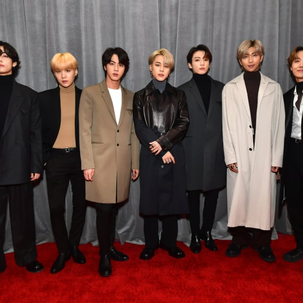 BTS attends the 62nd Annual GRAMMY Awards