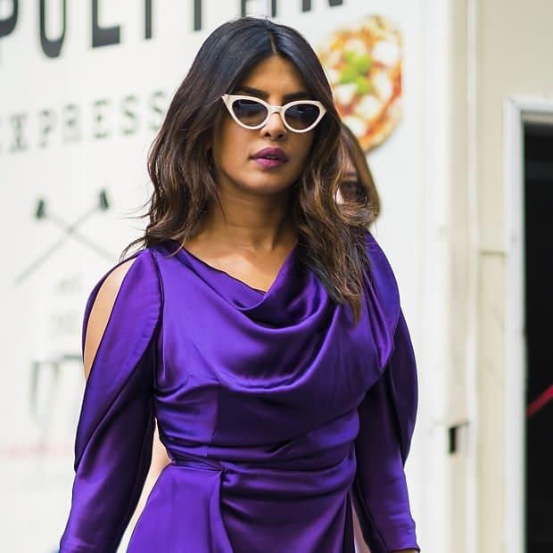 Priyanka Chopra is seen wearing Vivienne Westwood in Midtown on May 2, 2018