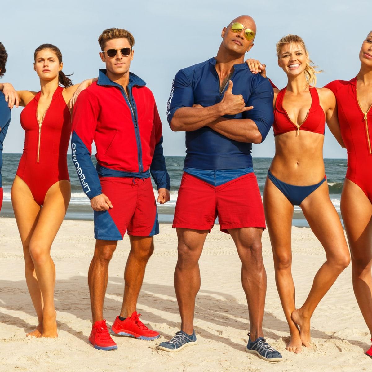 Pamela Anderson Baywatch Lifeguard Womens Ladies Fancy Dress Costume LOT