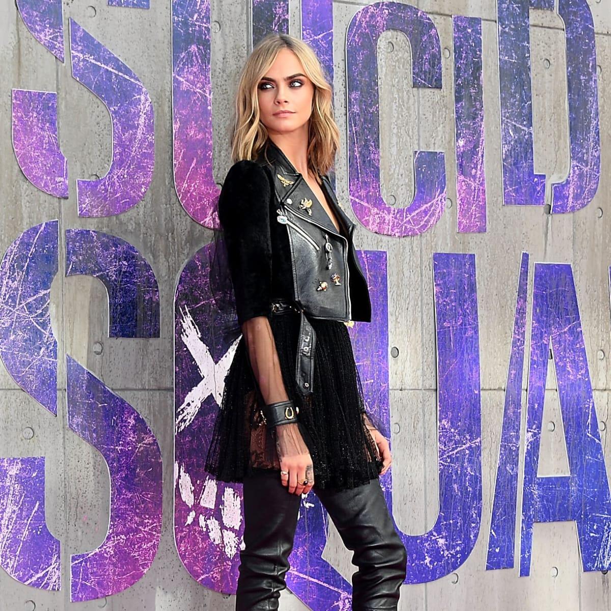 How Cara Delevingne S Sexy Suicide Squad Press Tour Wardrobe