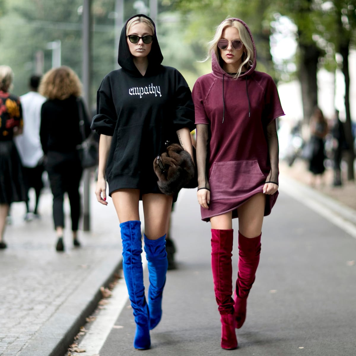 To Wear Thigh-High Boots This Winter