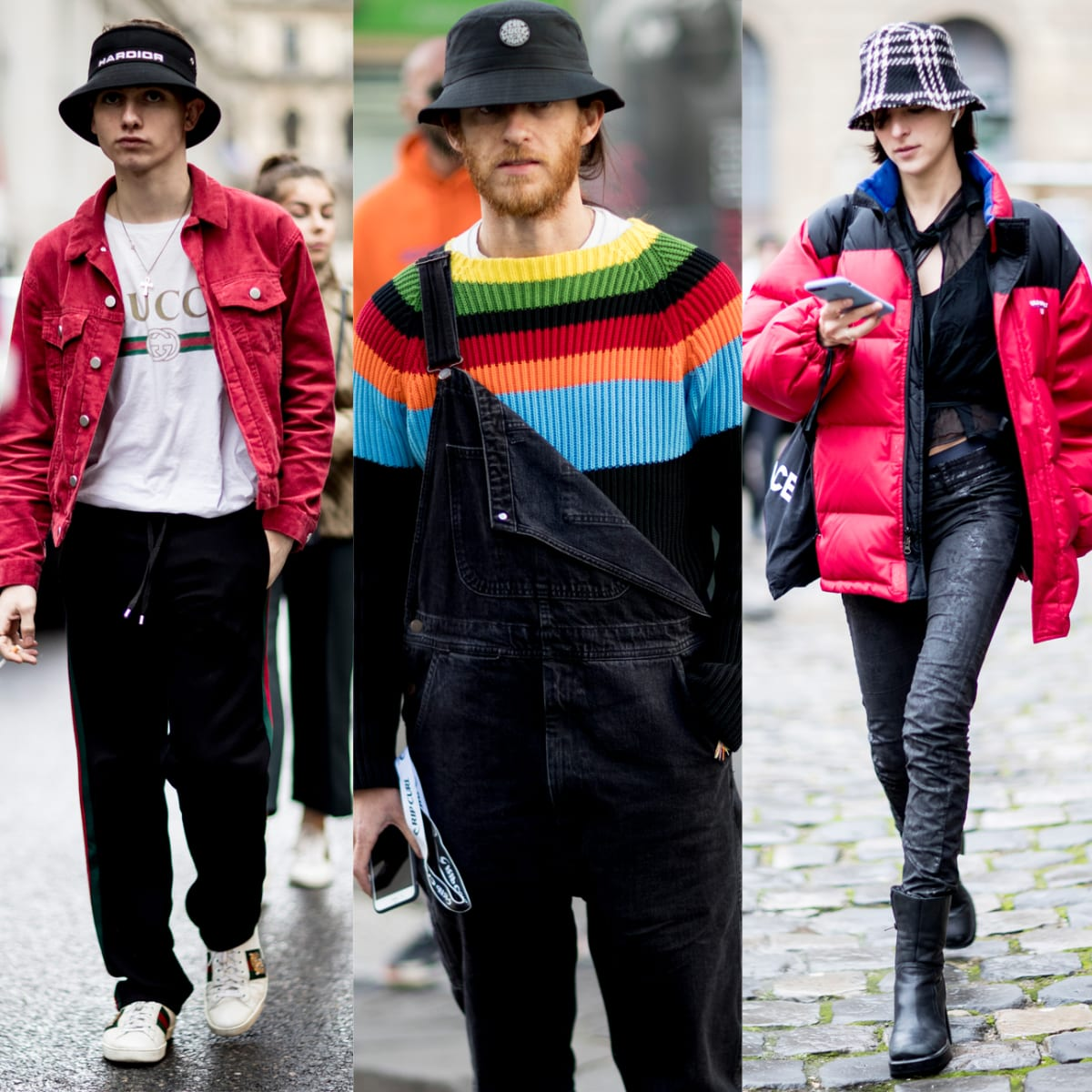 The Street Style Crowd At Paris Men S Fashion Week Brought Back The Bucket Hat Fashionista