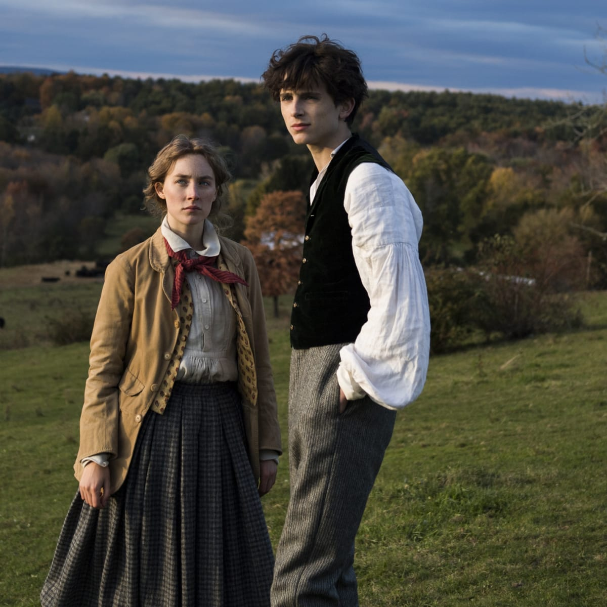 Saoirse Ronan and Timothée Chalamet 'Swap' Civil War-Era Costumes in 'Little  Women' - Fashionista