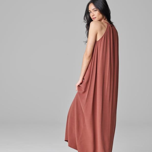 4-Crepe Halter Dress