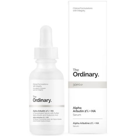 The Ordinary Alpha Arbutin 2% + HA, $8.90, available here.