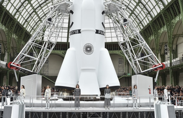 Chanel Literally Launched a Spacecraft in the Middle of Its Fall 2017 Show