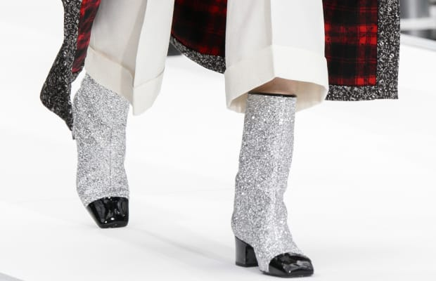 Glitter Boots Were the Single Breakout Shoe Trend of Fall 2017 Fashion Month