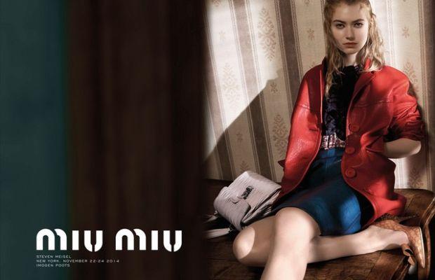 Imogen Poots for Miu Miu Spring 2015. Photo: Miu Miu.