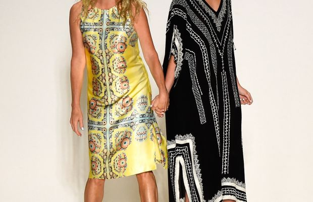 Nanette Lepore with her daughter, Violet, at New York Fashion Week in September 2014. Photo: Frazer Harrison/Getty Images