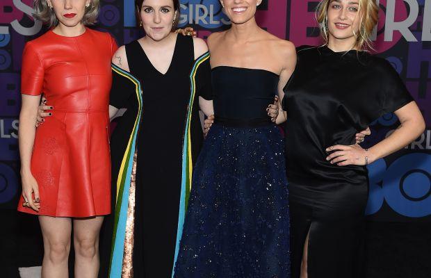 Zosia Mamet, Lena Dunham, Allison Williams and Jemima Kirke. Photo: Jamie McCarthy/Getty Images