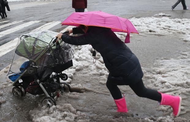 Last year's polar vortex in New York City. Photo: John Moore/Getty Images