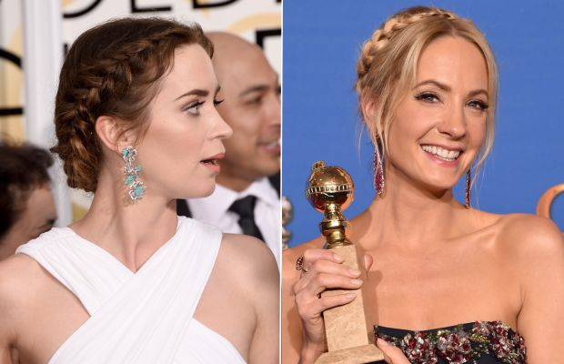 """""""Wait, Joanne, I thought *I* had the cutest braid tonight!"""" Photos: Jason Merritt & Kevin Winter/Getty Images"""