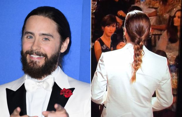Beard in the front, braid in the back. Photos: Steve Granitz/Getty Images & Carly Cardellino Twitter