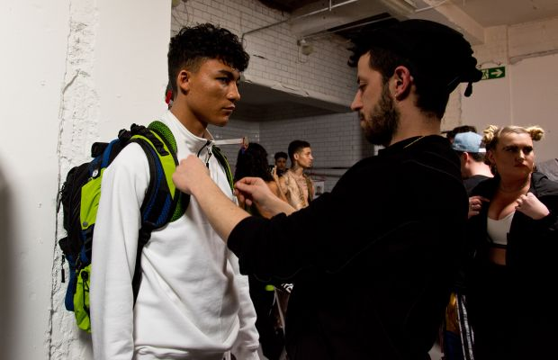 """Backstage at Nasir Mazhar during """"London Collections: Men."""" Photo: Ben A. Pruchnie/Getty Images"""