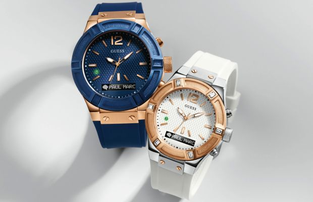 Guess showcased two attractive smartwatches at CES last week. Photo: Guess